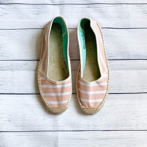 Soludos Espadrille Pink & White Striped Flats